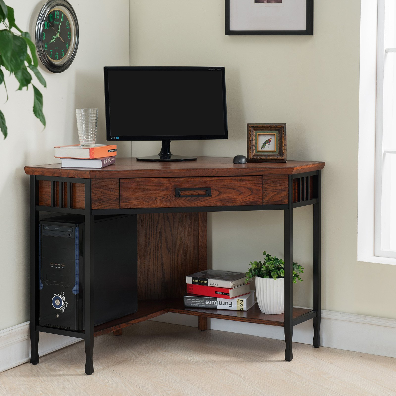Leick Furniture Ironcraft Corner Computer/Writing Desk