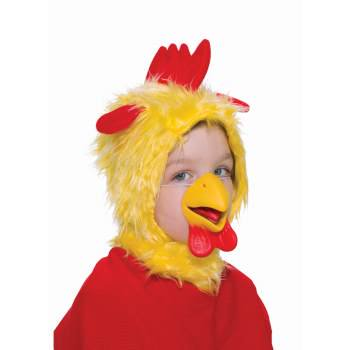 CHILD ANIMAL HOOD&NOSE-CHICKEN - Costume Animal Noses