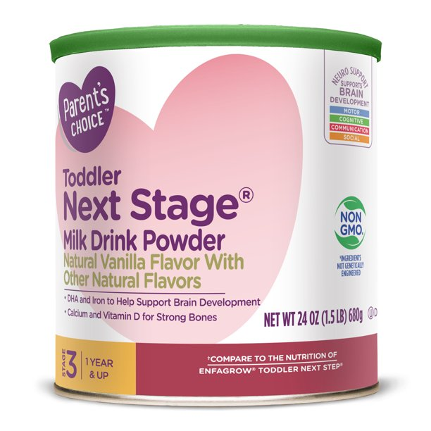 Parent's Choice Toddler Next Stage® Non-Gmo Powder, Vanilla, 24oz