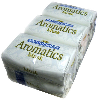 Aromatics Luxary Soap, Musk, CASE (6 x 125g)