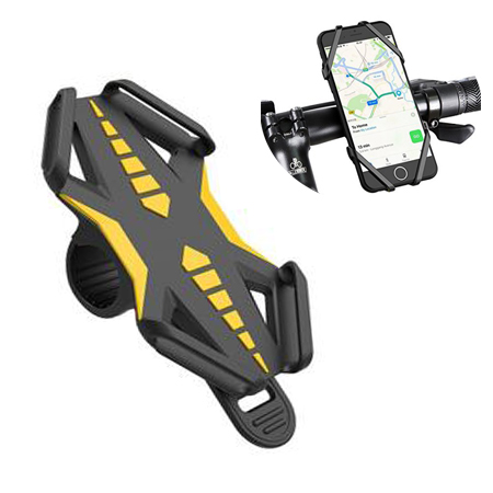 Bike Mount Bicycle Phone Holder Universal Motorcycle Cell Phone Mount for Samsung Galaxy S8/S7, iPhone 6/6s/7/7 Plus and More(Phone size:4.3 and 6 inches)