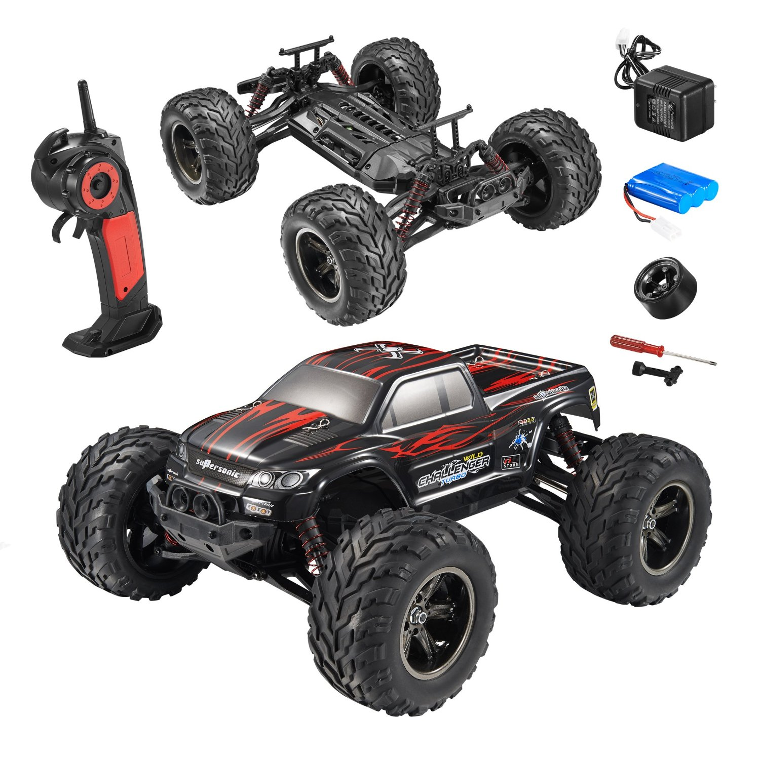 Fmt 1 12 Ipx4 Scale Electric Rc Car Offroad 2 4ghz 2wd High Sd 33 Mph Remote Controlled Truck Color Red