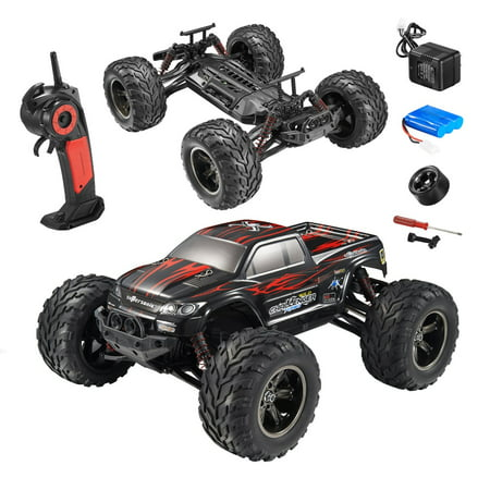 FMT 1/12 IPX4 Scale Electric RC Car Offroad 2.4Ghz 2WD High Speed 33+MPH Remote Controlled Car Truck (Color: Red)