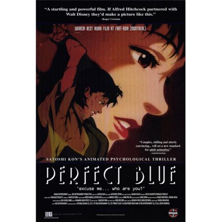 Pop Culture Graphics MOVIH5702 Perfect Blue Movie Poster Print, 27 x 40 ()