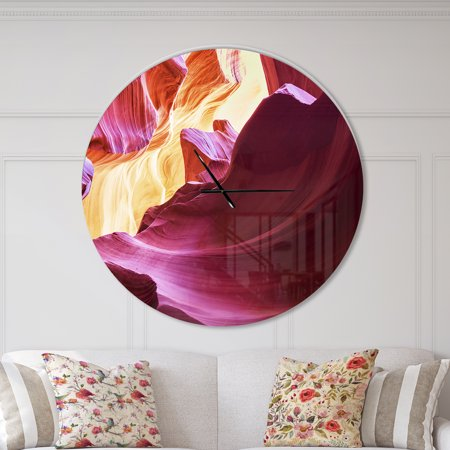 DesignArt Purple in Antelope Canyon Large Wall Clock - image 1 of 2