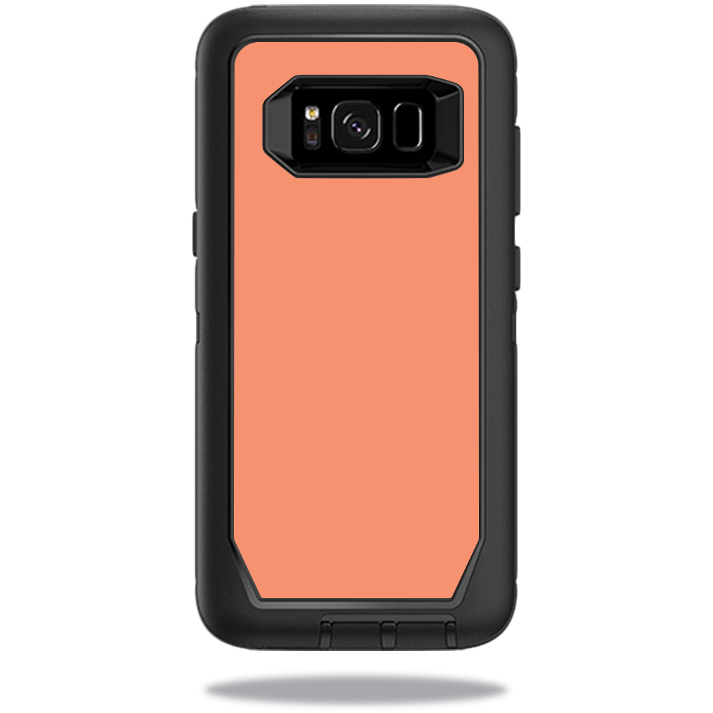 MightySkins Protective Vinyl Skin Decal for OtterBox DefenderSamsung Galaxy S8 Case sticker wrap cover sticker skins Solid Peach