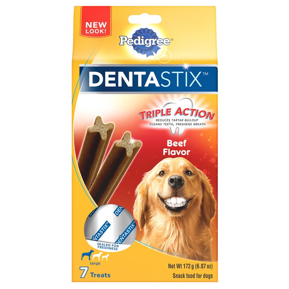 PEDIGREE DENTASTIX Beef Flavor Large Treats for Dogs - 6.07 Ounces 7 Treats