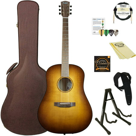 Root Beer Finish (Bedell Guitars Earthsong Series Dreadnought Acoustic-Electric Guitar with ChromaCast Accessories, Root Beer Burst Finish)