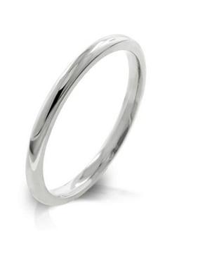Kate Bissett R08037RV-V00-08 2mm High Polished Stainless Steel Eternity Wedding Band