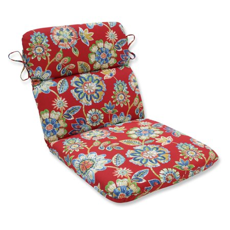 Pillow perfect daelyn cherry rounded corners hinged outdoor chair cushion - Hinged outdoor cushions ...