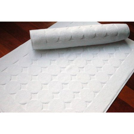 Luxury Hotel & Spa Circle Design Turkish Cotton Bath Mats -