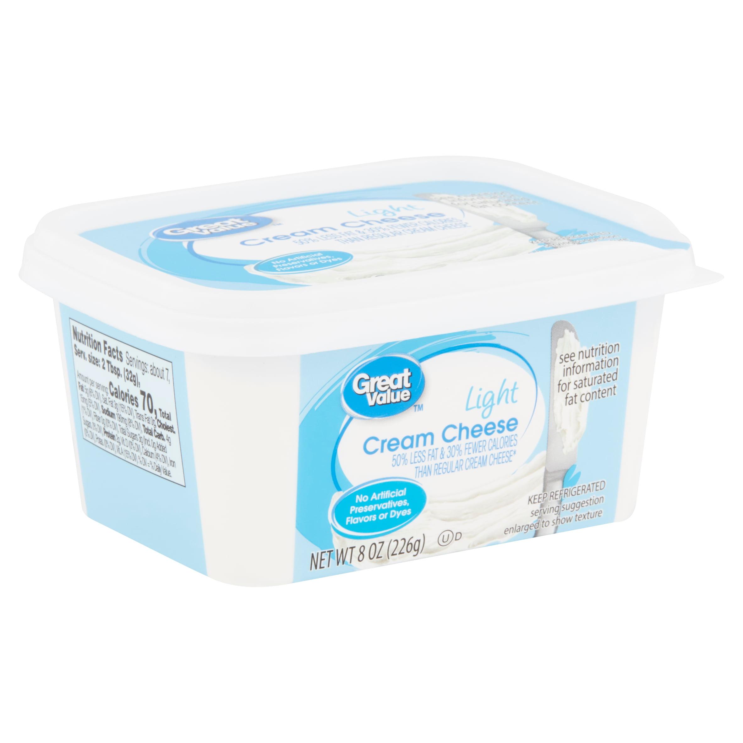 Great Value Light Cream Cheese, 8 oz