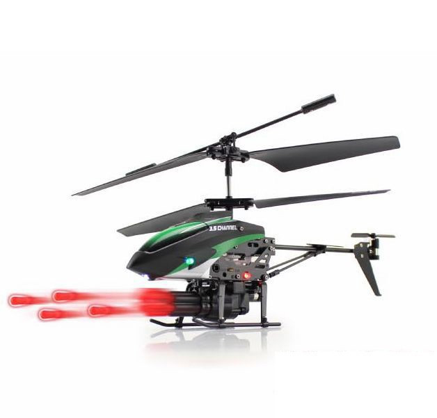 Merske MK10032 Missile Launching 3.5Ch RC Remote Control Helicopter with Gyro - Red