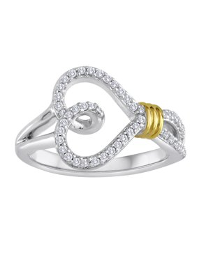 Brilliance Fine Jewelry 14kt Yellow Gold over Sterling Silver 1/4 Carat T.W. Diamond Ring