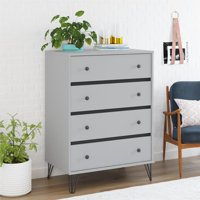 Novogratz Owen 4 Drawer Dresser, Dove Gray