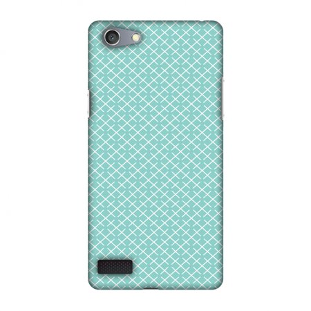 Pastel Checker - Oppo Neo 7 Case, Premium Handcrafted Designer Hard Shell Snap On Case Printed Back Cover with Screen Cleaning Kit for Oppo Neo 7, Slim, Protective - Checkered In Pastel