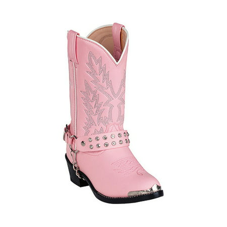 Pink And White Cowboy Boots (Girls' Durango Boot BT568)
