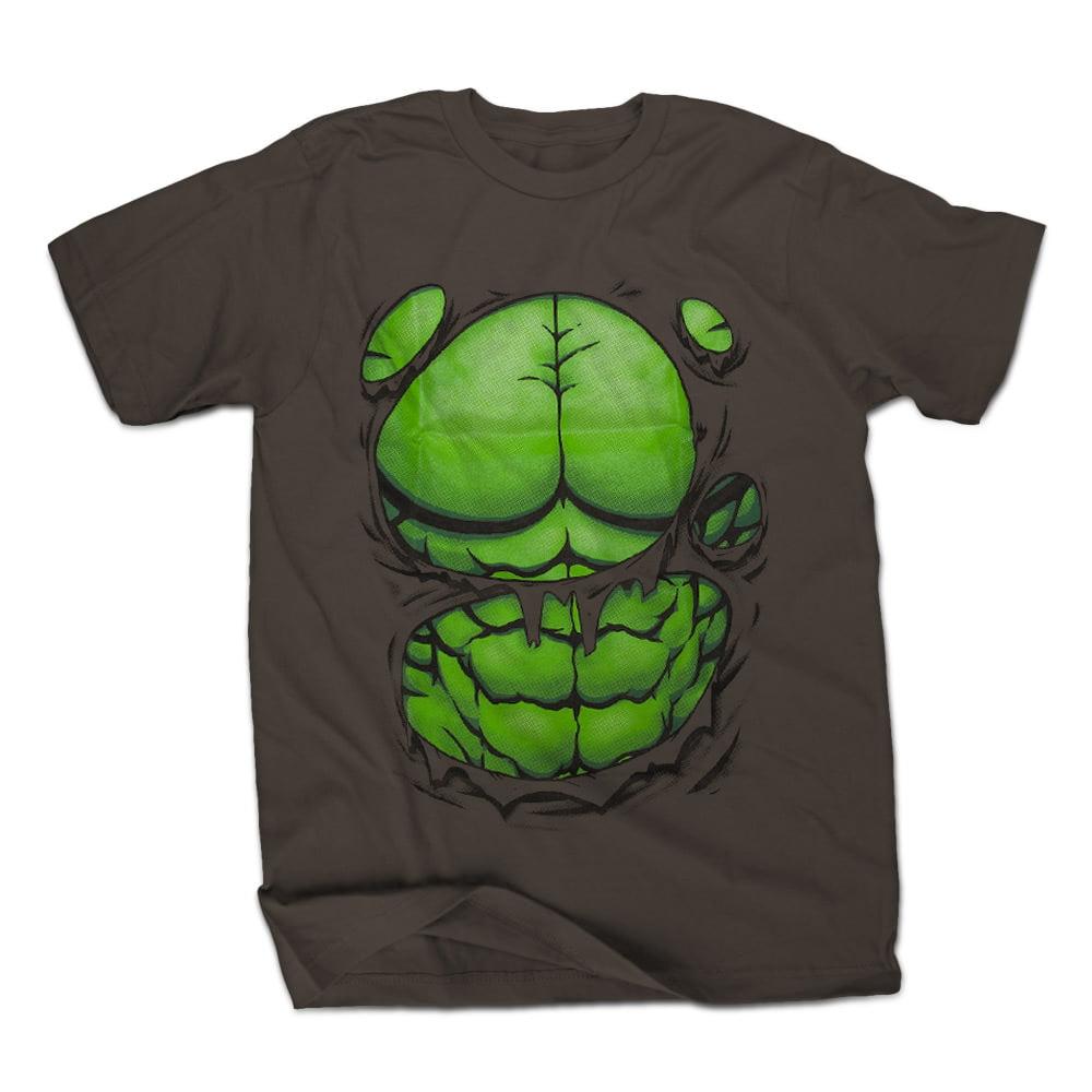 Marvel Hulk Hulked Out Mens Charcoal Gray T-Shirt | S