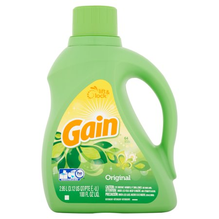 Gain Liquid Laundry Detergent, Original Scent, 64 loads, 100 fl oz ...