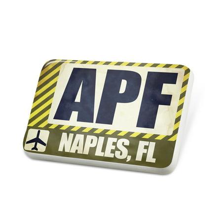 Porcelein Pin Airportcode APF Naples, FL Lapel Badge – NEONBLOND