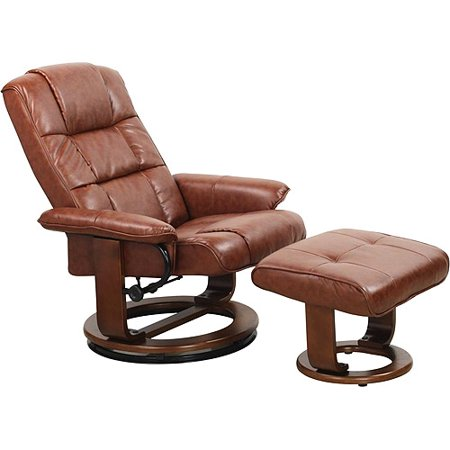 euro recliner lounger chair and ottoman vintage