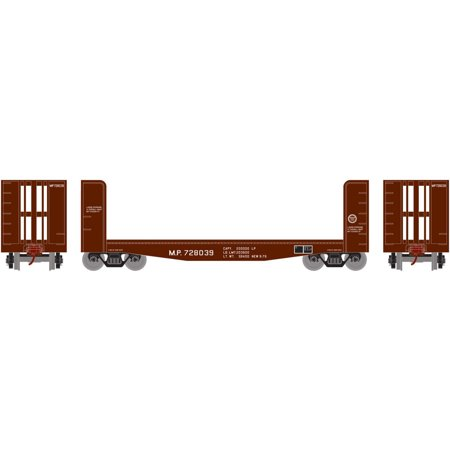 Athearn Roundhouse HO Scale 40' Pulpwood Flat Car Missouri Pacific/MP #728039 -  85745