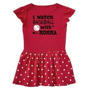 I Watch Baseball with My Momma Infant Dress