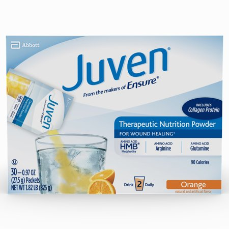 Juven Therapeutic Nutrition Drink Mix Powder for Wound Healing Includes Collagen Protein, Orange, 30 (Nutrition Drink Mix)