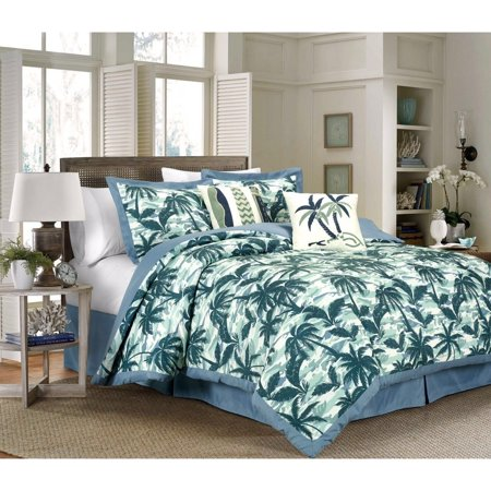 Kidsline 6 Piece - French Impression Kona 6 Piece Printed Comforter Set With Embroidery Blue Full