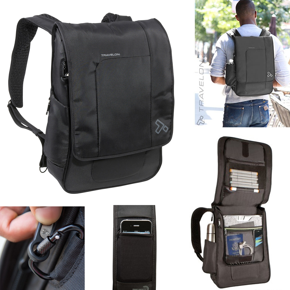 Travelon Anti Theft RFID Blocking Urban Backpack Bag Travel Safe ...