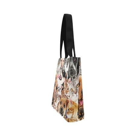 HATIART Dog and Cat Canvas Tote Bag Shoulder Handbag Grocery Bag for School Shopping Travel - image 4 de 4