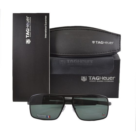 8be8bb43cf0 TAG Heuer - Tag Heuer TH0987 305 Aviator Black Polarized Sunglasses ...