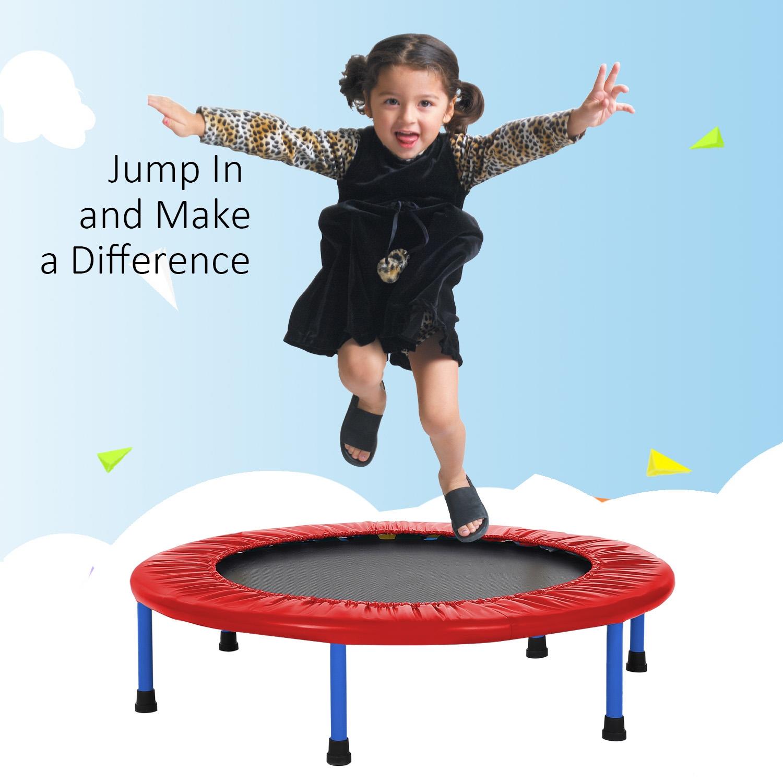 Portable Handle Foldable Children Kids Safe Trampoline Vaf