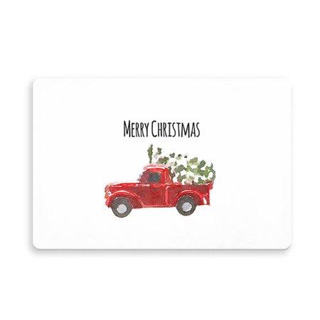 The Holiday Aisle Leavitt Christmas Truck Kitchen Mat