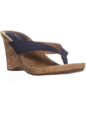 ad60a5fac93 Product Image Womens SC35 Chicklet Wedge Thong Sandals