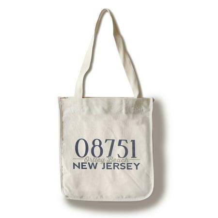 Blue Jersey Purse - Ortley Beach, New Jersey - 08751 Zip Code (Blue) - Lantern Press Artwork (100% Cotton Tote Bag - Reusable)
