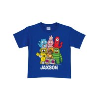 Personalized Yo Gabba Gabba Group Boys' T-Shirt, Blue