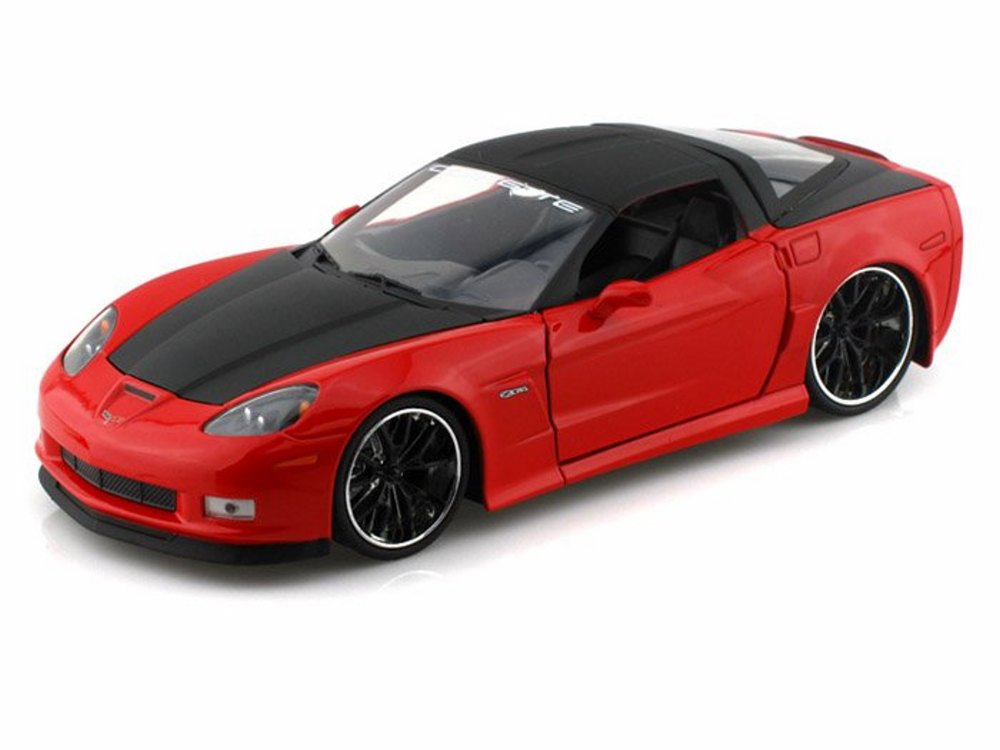 2006 Chevy Corvette Z 06, Red w  black top Jada Toys 96804 1 24 scale Diecast Model Toy... by Jada