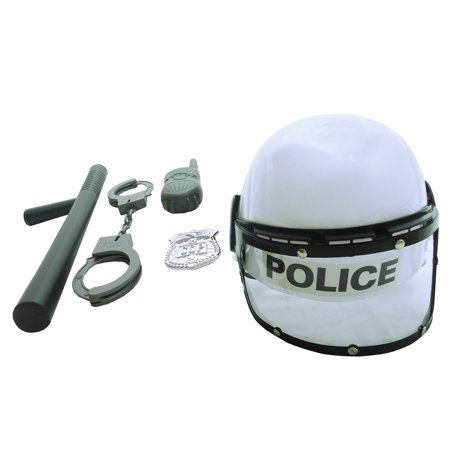 Kids Police Dress Up (Combat Police Helmet Dress Up Play Set with)