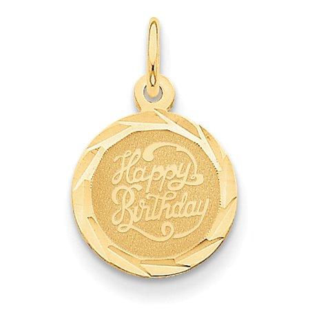 14k Happy Birthday Disc Charm 14k Happy Birthday Disc