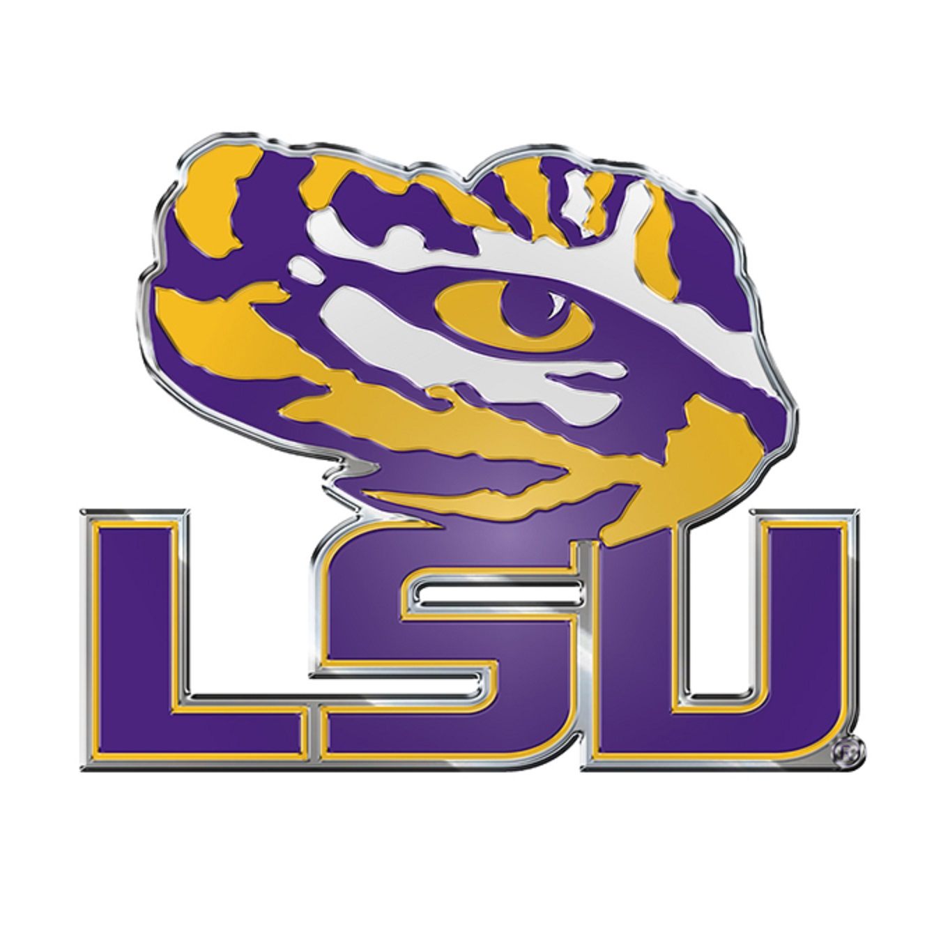 LSU Tigers Aluminum Auto Emblem Decal Sticker