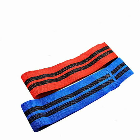Hip Cloth Resistance Bands- For Legs and Butt ,Workout Gear Booty Exercise Set,Fitness Resistance Loop Band Set Perfect for Crossfit, Yoga and Booty Building,2Pack,Red and Blue,XS(Mesh Bag