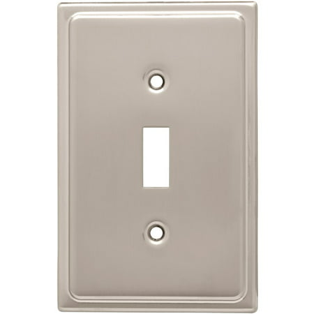 Franklin Brass Country Fair Single Switch Wall Plate in Satin Nickel