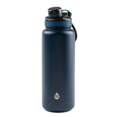 Tal 40 Ounce Double Wall Vacuum Insulated Stainless Steel Ranger Pro Water Bottle, Navy (Lexan Water Bottle)