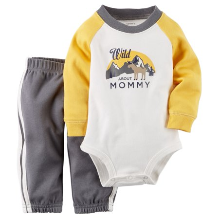 Carters Baby Clothing Outfit Boys 2-Piece Bodysuit & Pant Set Wild About - Wild West Outfits