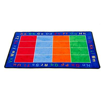 Learning Carpets cpr456 - abc squares rectangle, large
