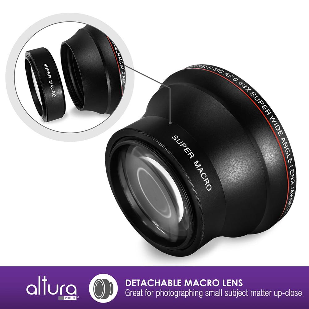 58mm 043x Altura Photo Professional Hd Wide Angle Lens W Macro