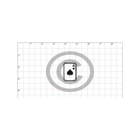 Symbol Ace Of Spades Card Stencil Premium Walmart