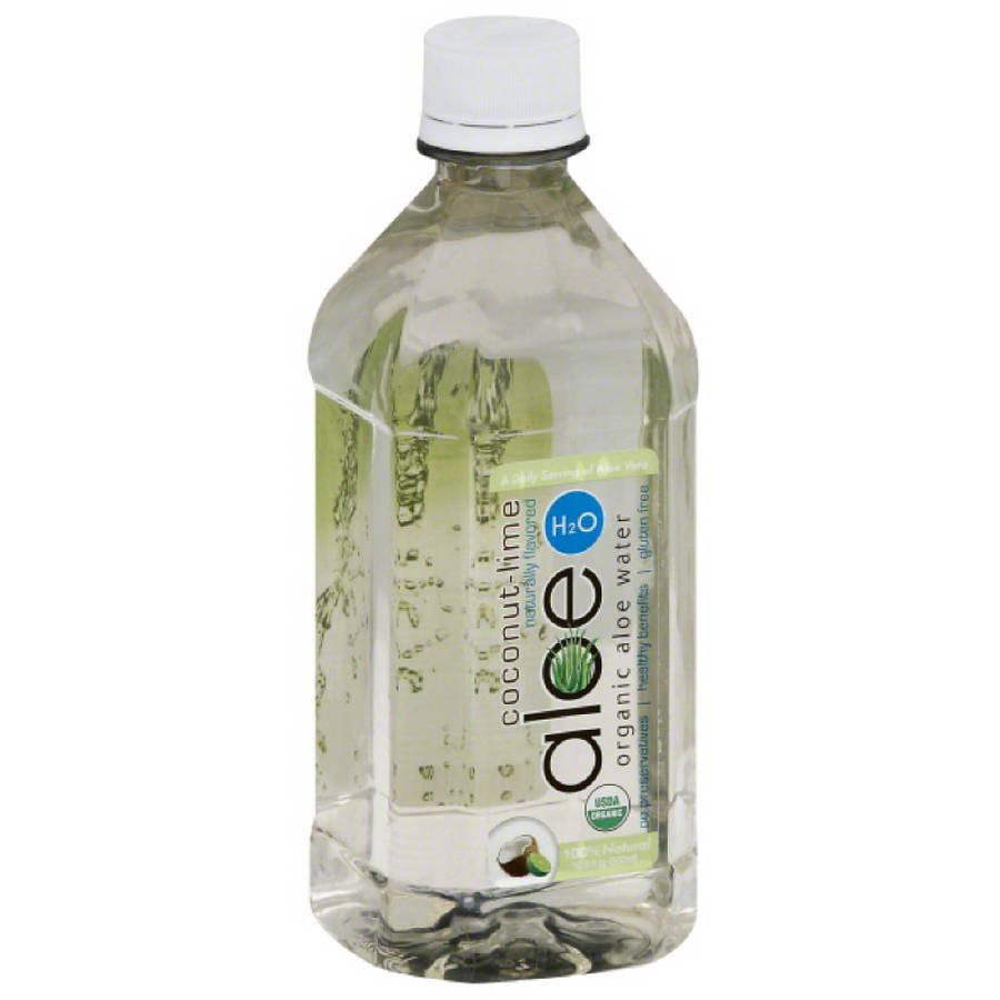 Quark, Inc Aloe H2O Coconut - Lime Organic Aloe Water, 16.9 fl oz, (Pack of 12)