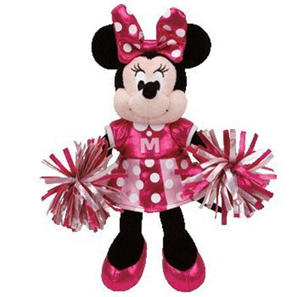 """TY Sparkle Beanie Buddies 8"""" - Minnie Mouse Cheerleader"""